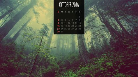 Calendar Wallpapers: Free October 2016 Desktop Backgrounds