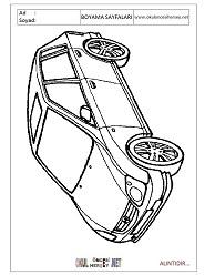 Araba Modelleri Boyama Sayfaları