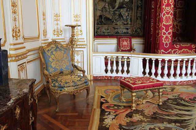 Ornate furnishings in Chateau de Chambord, in the Loire Valley
