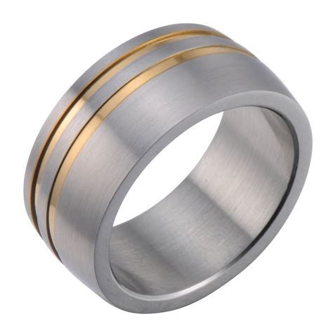 Gold and Silver Men Wedding Band   Wedding and Bridal