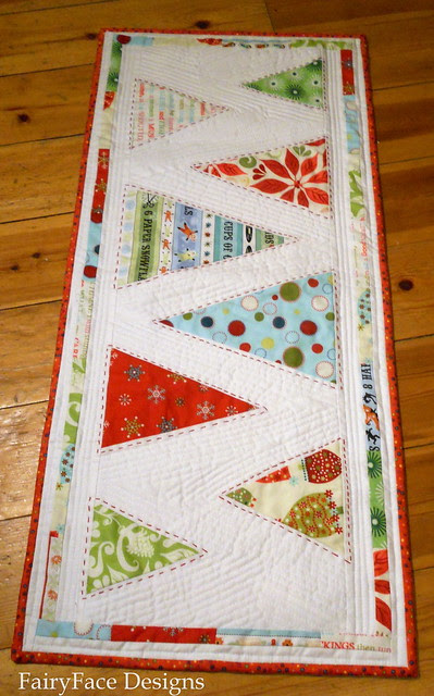 Minimalist trees Modern Christmas Table Runner