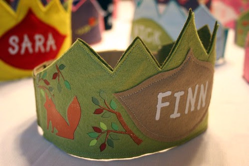 woodland birthday crown