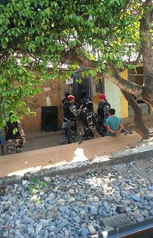 Favela do Mosquito, que fica no bairro das Quintas, foi o principal alvo do cumprimento dos mandados (Foto: Ediana Miralha/Inter TV Cabugi)