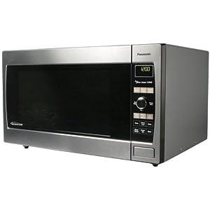 Total Stainless Steel Microwave Panasonic Nn Sd697s 1 2cuft 1300 Watt Sensor Oven