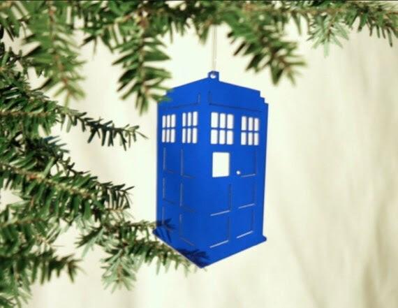 Acrylic Doctor Who Tardis Christmas Ornament