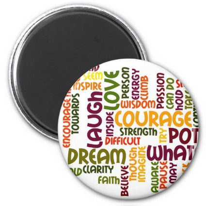 Motivational Words 1 fridge magnet