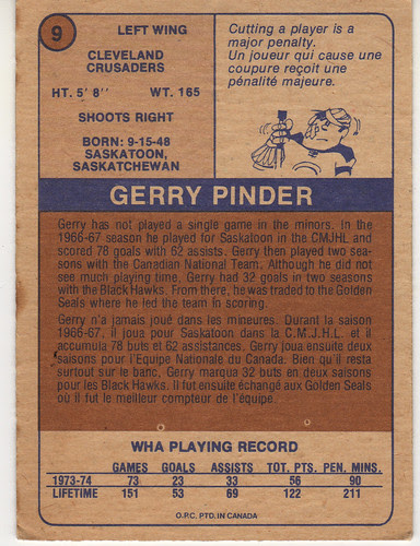 Gerry Pinder back