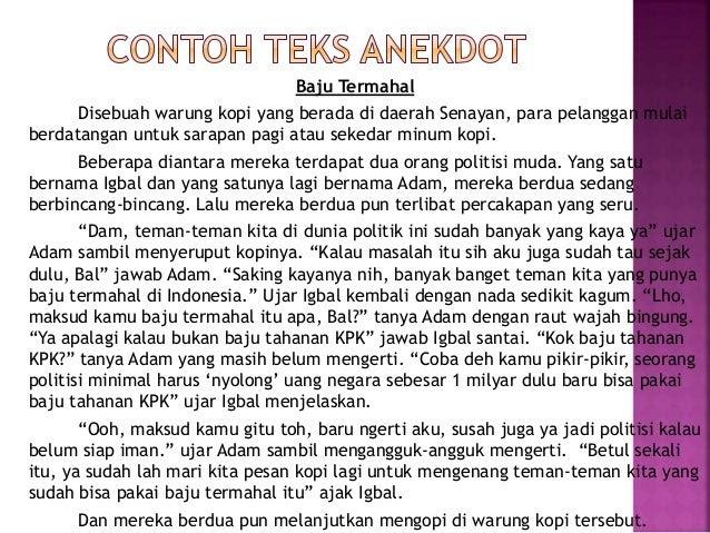 Contoh Teks Anekdot Politik Indonesia - Contoh 36