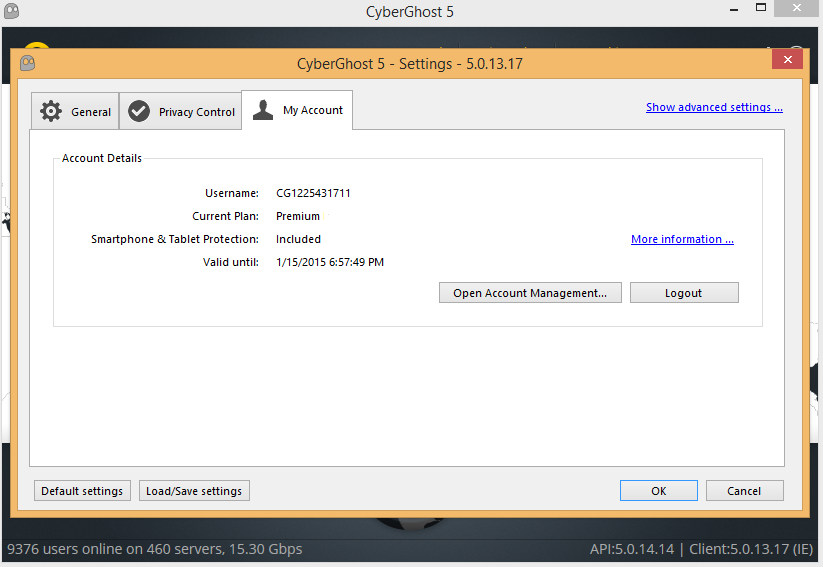 Cyberghost 5 Premium