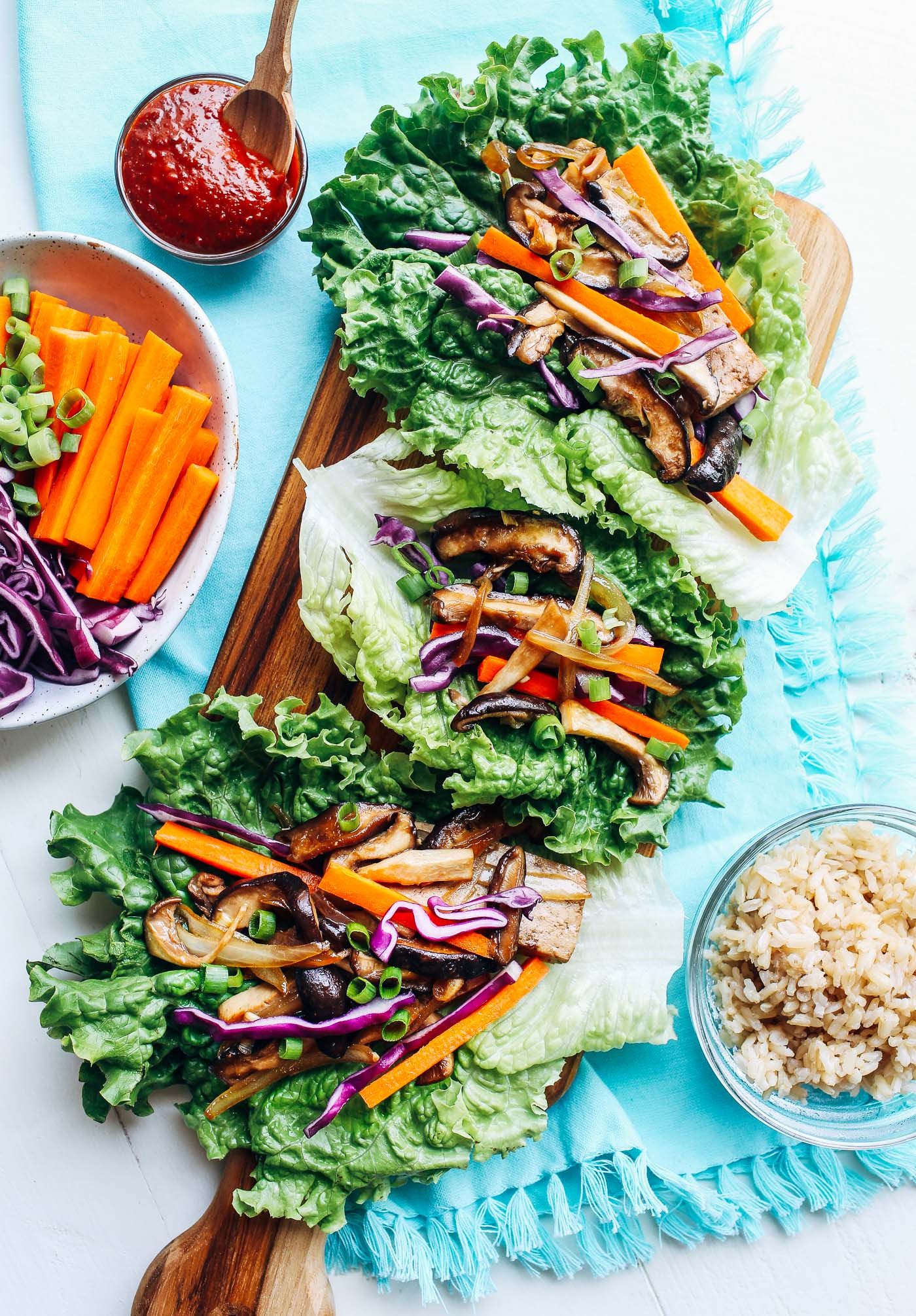 Vegan Bulgogi Lettuce Wraps - Making Thyme for Health