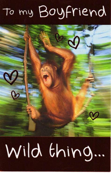 To My Boyfriend Wild Thing Happy Valentine's Day Card