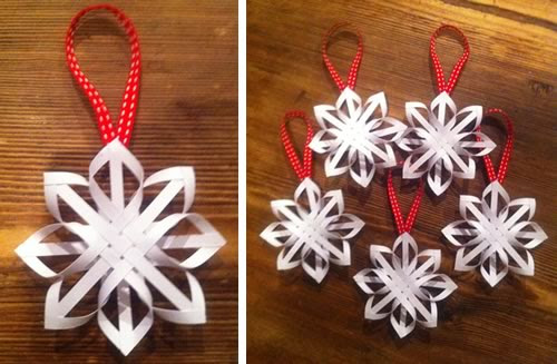how to make a star christmas tree ornament step by step homemade - Paper Christmas Decorations To Make At Home