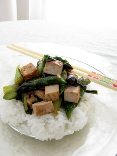 Asparagus Tofu Stir Fry