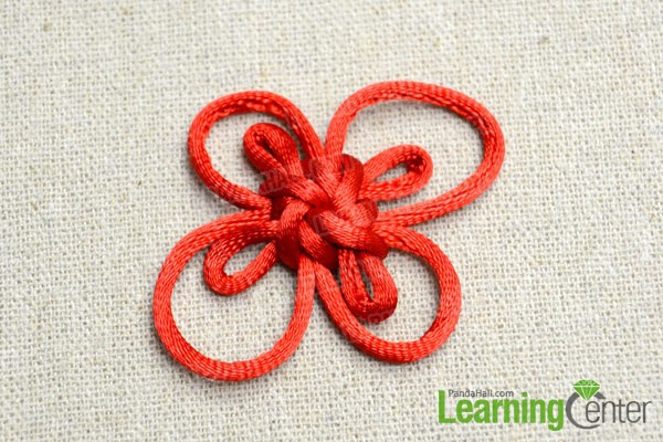 finished Chinese decorative cloverleaf knot
