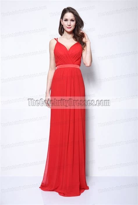 Selena Gomez Red Chiffon Evening Formal Dress 2011 Oscars