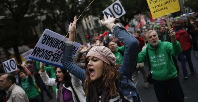 Manifestación de la Marea Verde. REUTERS