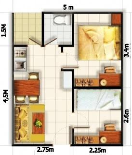 desain rumah minimalis 5 x 6