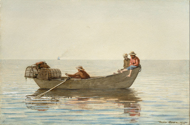 File:Winslow Homer - Three Boys in a Dory with Lobster Pots - Google Art Project.jpg