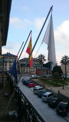 Foto arriado bandeira