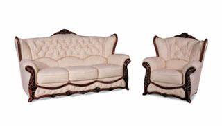 Leather Wood Sofa,Italy Wooden Sofa,Leather Wood Furniture