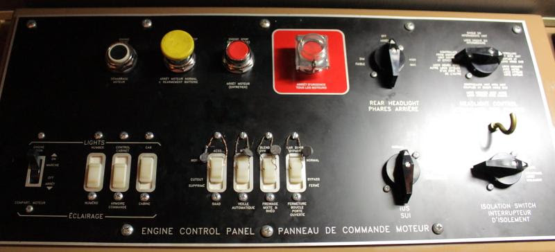 Engine Control Panel in VIA 6429