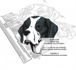 Pointer Dog Scrollsaw Intarsia or Yard Art Woodworking Pattern - fee plans from WoodworkersWorkshop® Online Store - Pointer Dogs,pets,animals,dog breeds,yard art,painting wood crafts,scrollsawing patterns,drawings,plywood,plywoodworking plans,woodworkers projects,workshop blueprints