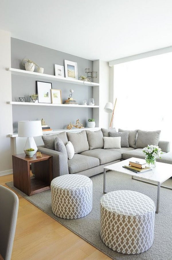 Gray living room ideas, color combinations, furniture and