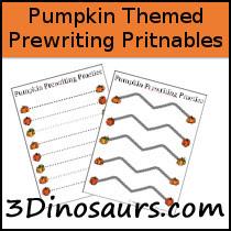 Calabaza temáticas Prewriting Imprimibles