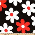 Michael Miller Plain Jane Big Daisy Red