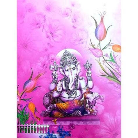 Peaceful Ganesh With Pink Background ? 0006 Card No Nice