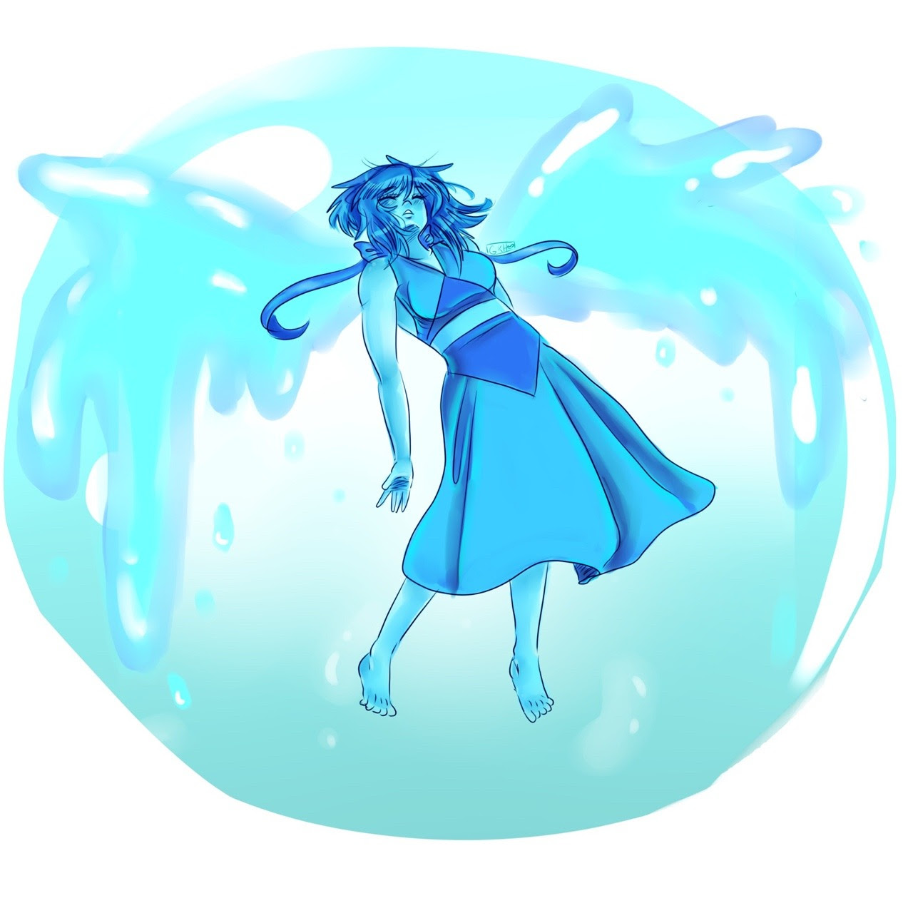 Drew lapis lazuli as a prize for the individual who won my coloring contest