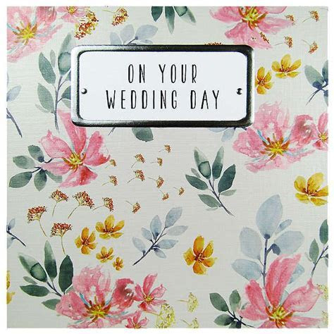 Saffron Cards and Gifts On Your Wedding Day Card   Fresh