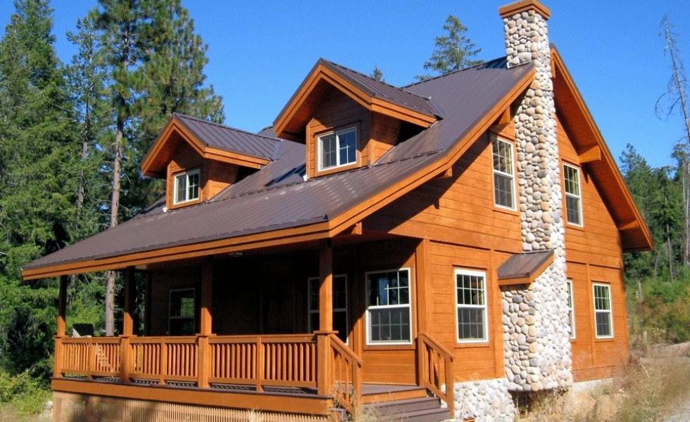 case din barne de lemn masiv Solid wood house plans 980x600