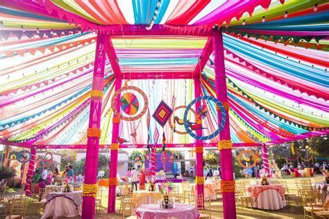 Mela Theme Colorful Mehndi Sangeet Wedding Photography