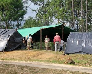 Campement des familles déplacées de Primero de Agosto © SIPAZ