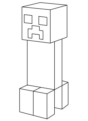 Minecraft Steve Kolorowanka Gambleh C
