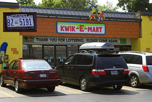 In front of the Kwik-E-Mart in DC