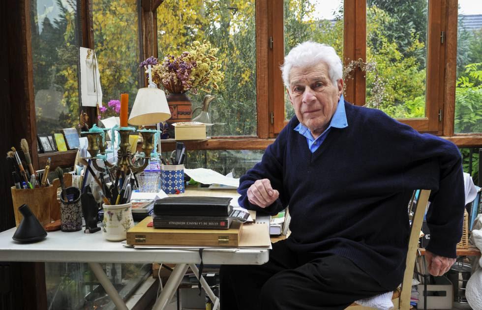 John Berger, fotografiado en octubre en su casa, cerca de París.