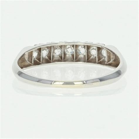 Art Deco Diamond   Platinum Vintage Ring Old European .30