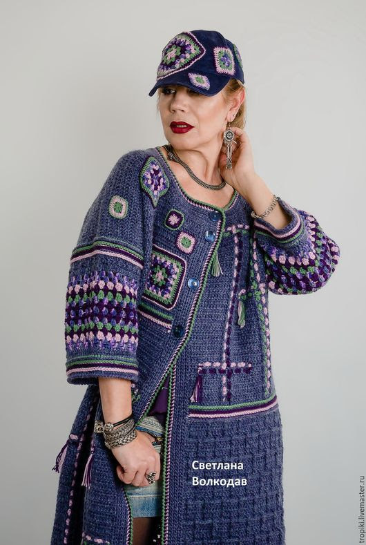 "Handmade Outerwear.  Fair Masters - handmade.  Buy a knitted coat copyright ""starry sky"".  Handmade."