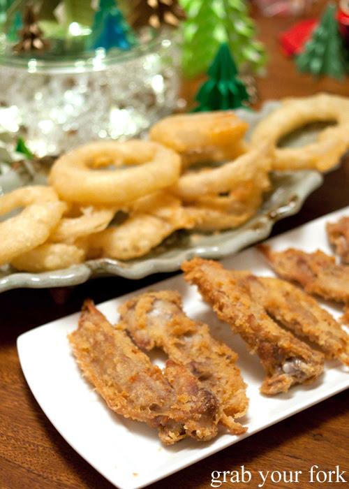 Deep fried turkey wing tips