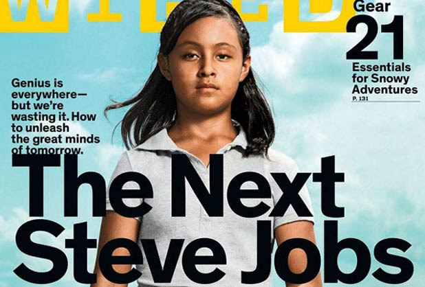 La revista destaca que Paloma puede resolver problemas matemáticos con gran facilidad y rapidez.