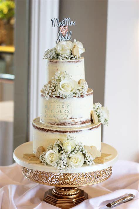3 Tier Semi Naked Wedding Cake, Southend on Sea, 23rd