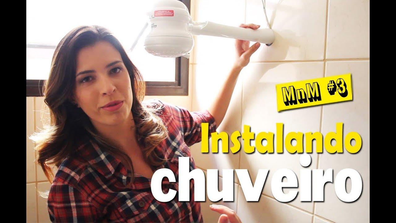 Mulher instalando chuveiro http://www.cantinhojutavares.com