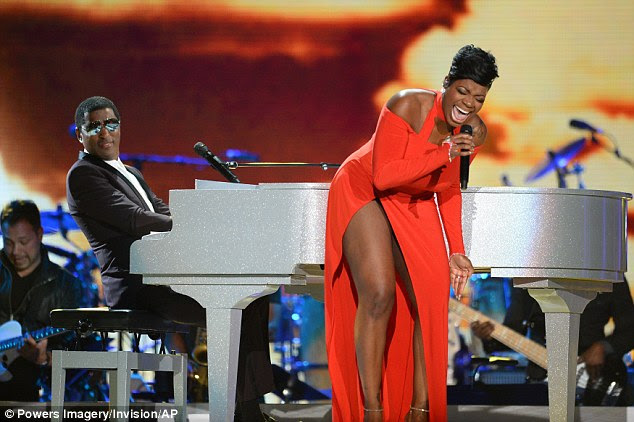 Leaving it all on stage: Singer Fantasia Barrino gave a soulful performance