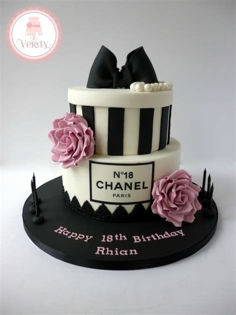 Chanel Inspired 18th Birthday cake   cake by Cakes by