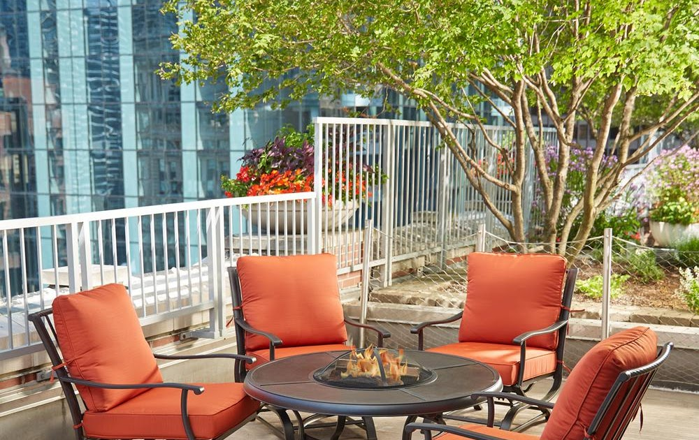 Hampton Bay Fire Pit Table And Chairs | Decoration Items Image