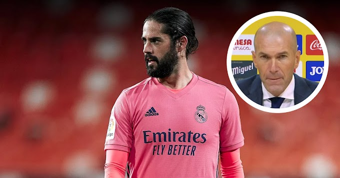Zidane: 'I don't know for how long but Isco is our player'