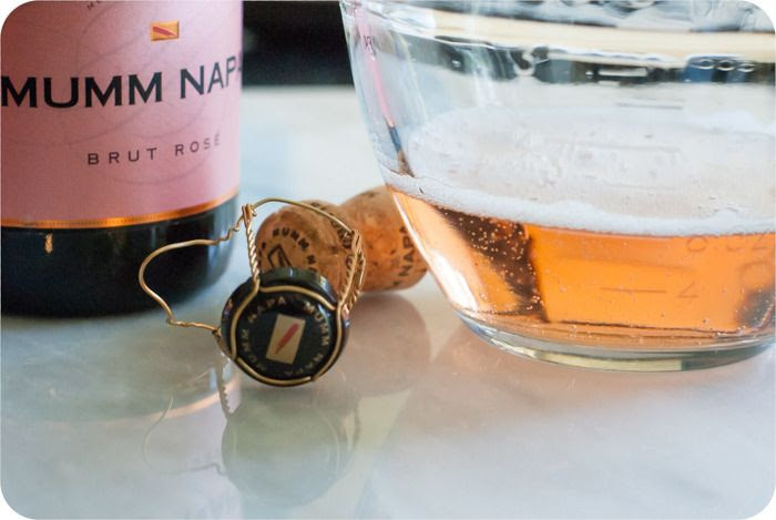 raspberry champagne sorbet : from bakeat350.blogspot.com