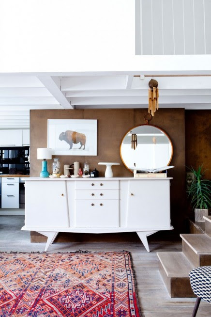 Exotische Loft Wohnzimmer mit Französisch Tapetendesigner ...